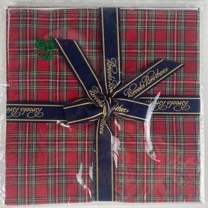 NEW Brooks Brothers Red Plaid Pocket Square